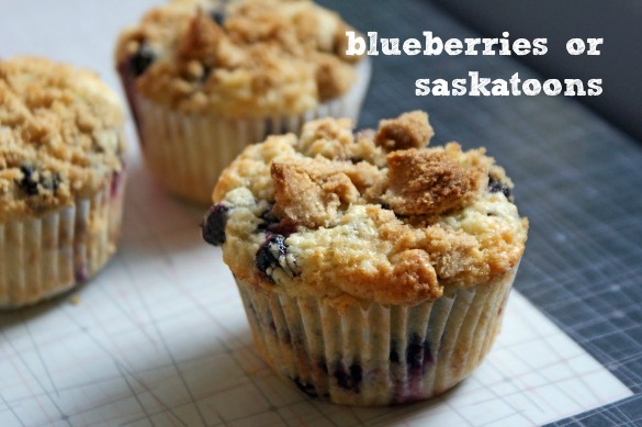 Browned+Butter+Blueberry+Muffin Browned Butter Blueberry Muffins (with Saskatoon berries)