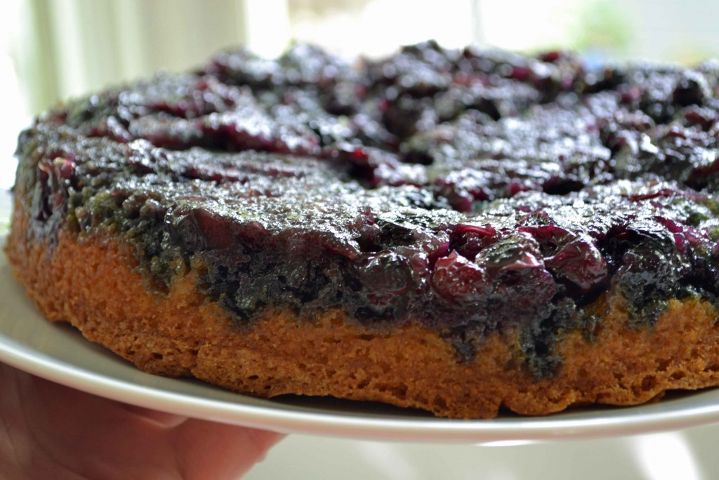 Blueberry upside down cake 1024x684 Maple Blueberry Upside Down Buttermilk Cake