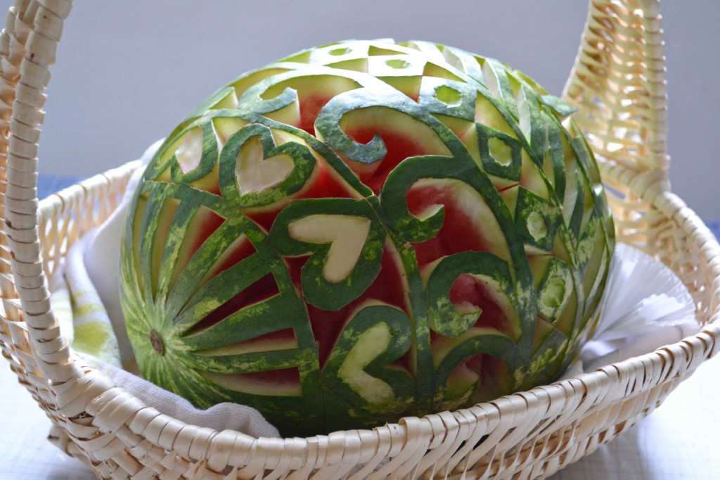 Watermelon easter egg 1 1024x682 Ribs and a Fabergé Watermelon