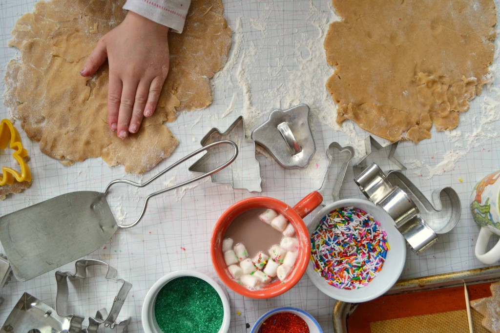Kids making cookies 2 1024x682 Maple Gingerbread Cutout Cookies