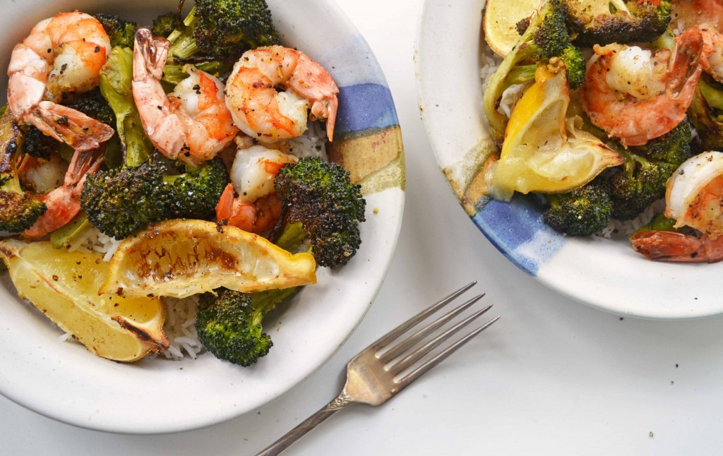 Roasted shrimp Broccoli 2 1024x646 Spicy Roasted Shrimp & Broccoli