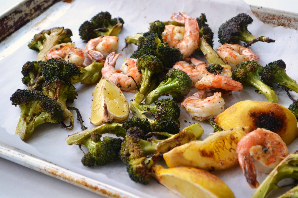 Roasted shrimp broccoli 3 1024x682 Spicy Roasted Shrimp & Broccoli