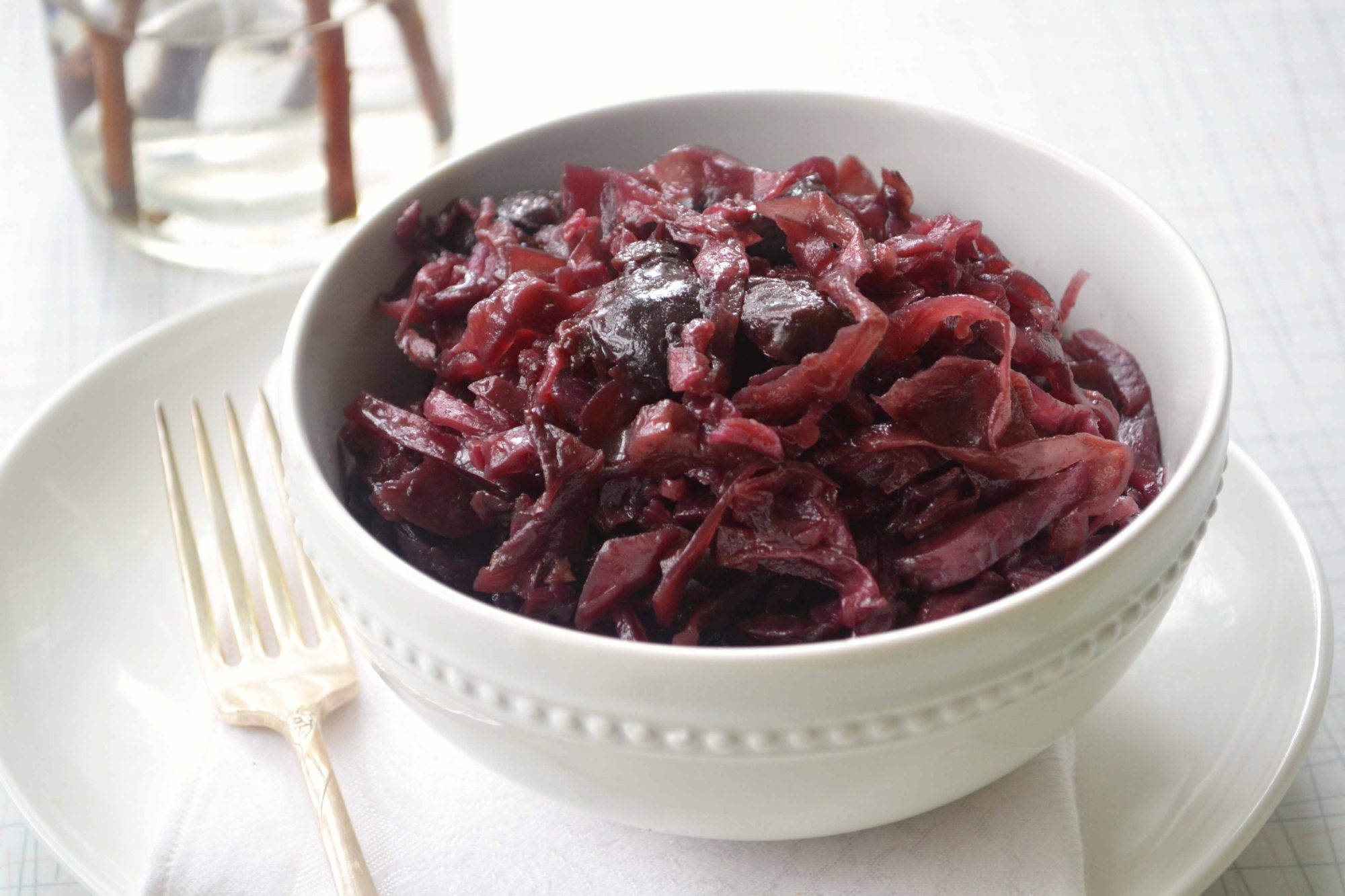 Braised red cabbage cherries 2 Braised Red Cabbage & Cherries