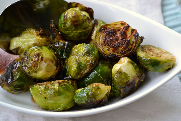 Grilled Brussels Sprouts 3 Roasted Brussels Sprouts with Balsamic & Honey