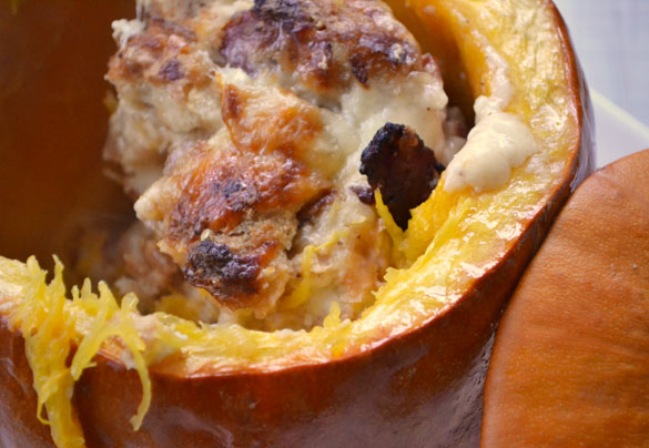 pumpkin stuffed with everything good 5 Roasted Pumpkin Filled with Everything Good