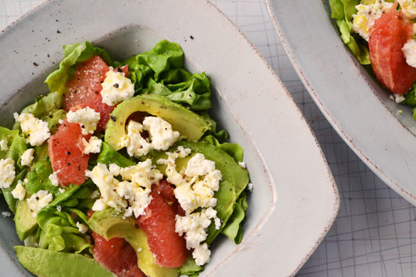 grapefruit salad 1 Avocado & Pink Grapefruit Salad with Feta