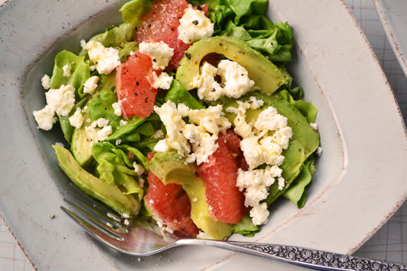 grapefruit salad 3 Avocado & Pink Grapefruit Salad with Feta