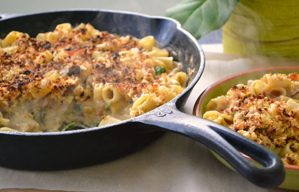Campbells stock 8 Skillet Mac n Cheese with Spinach & Bacon