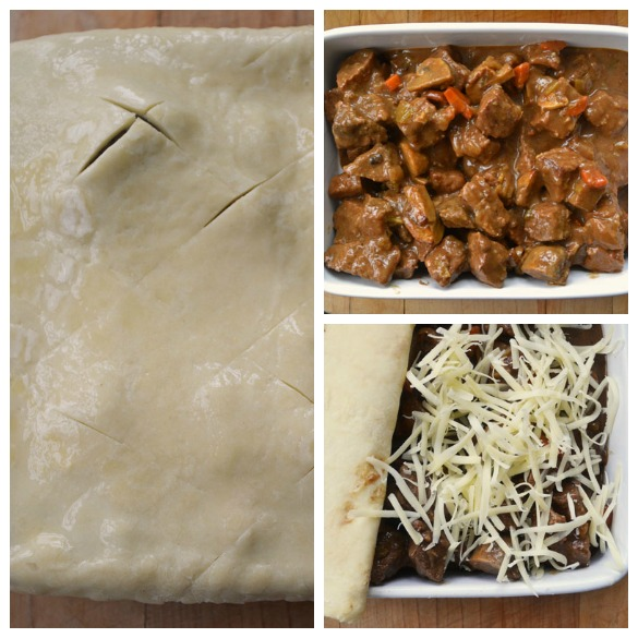 Guinness pie Collage 2 Beef & Guinness Pie with Rough Puff