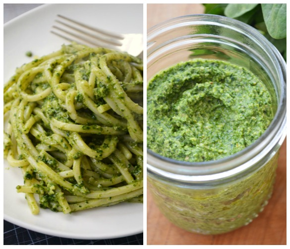 Kale pesto Collage Kale & Spring Greens Pesto