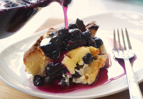 Blueberry french toast 3 Blueberry Cheesecake Overnight French Toast