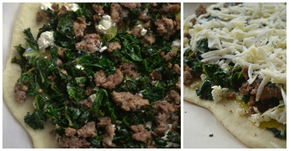 Lamb pizza Collage Crispy Lamb, Kale & Garlic Pizza