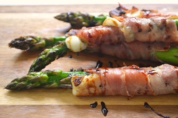 Asparagus w Prosciutto Cheese 1 12 Days: Grilled Asparagus with Queso Fresco & Prosciutto