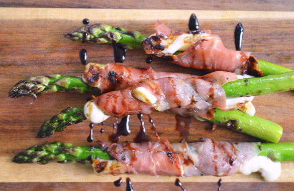 Asparagus w Prosciutto Cheese 2 12 Days: Grilled Asparagus with Queso Fresco & Prosciutto