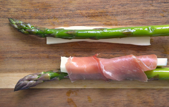 Asparagus w Prosciutto Cheese 5 12 Days: Grilled Asparagus with Queso Fresco & Prosciutto