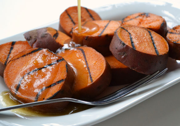 Grilled Sweet Potatoes 1 12 Days: Grilled Sweet Potatoes with Orange Maple Butter