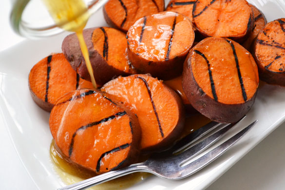 Grilled Sweet Potatoes 2 12 Days: Grilled Sweet Potatoes with Orange Maple Butter