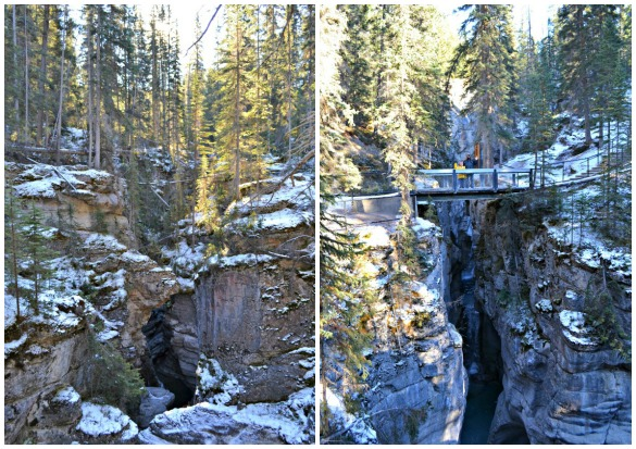 Maligne Canyon Collage 1 Christmas in November
