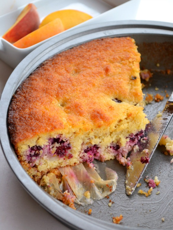 lemon blackberry cake 1 (Grain free!) Blackberry Lemon Cake