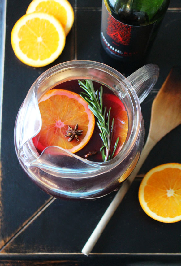 Winter Sangria 2 Winter Sangria with Rosemary and Ginger