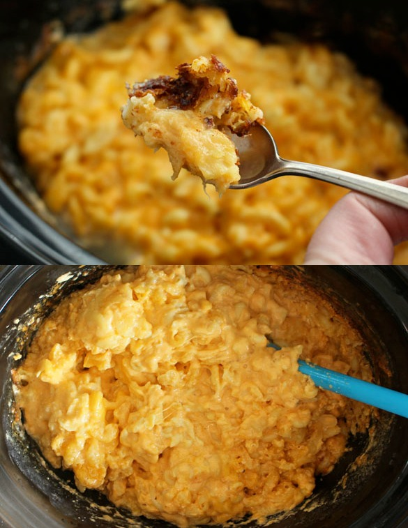 slow cooker mac collage 2 Slow Cooker Mac & Cheese